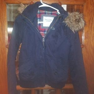 Abercrombie and Fitch Navy blue Winter Coat